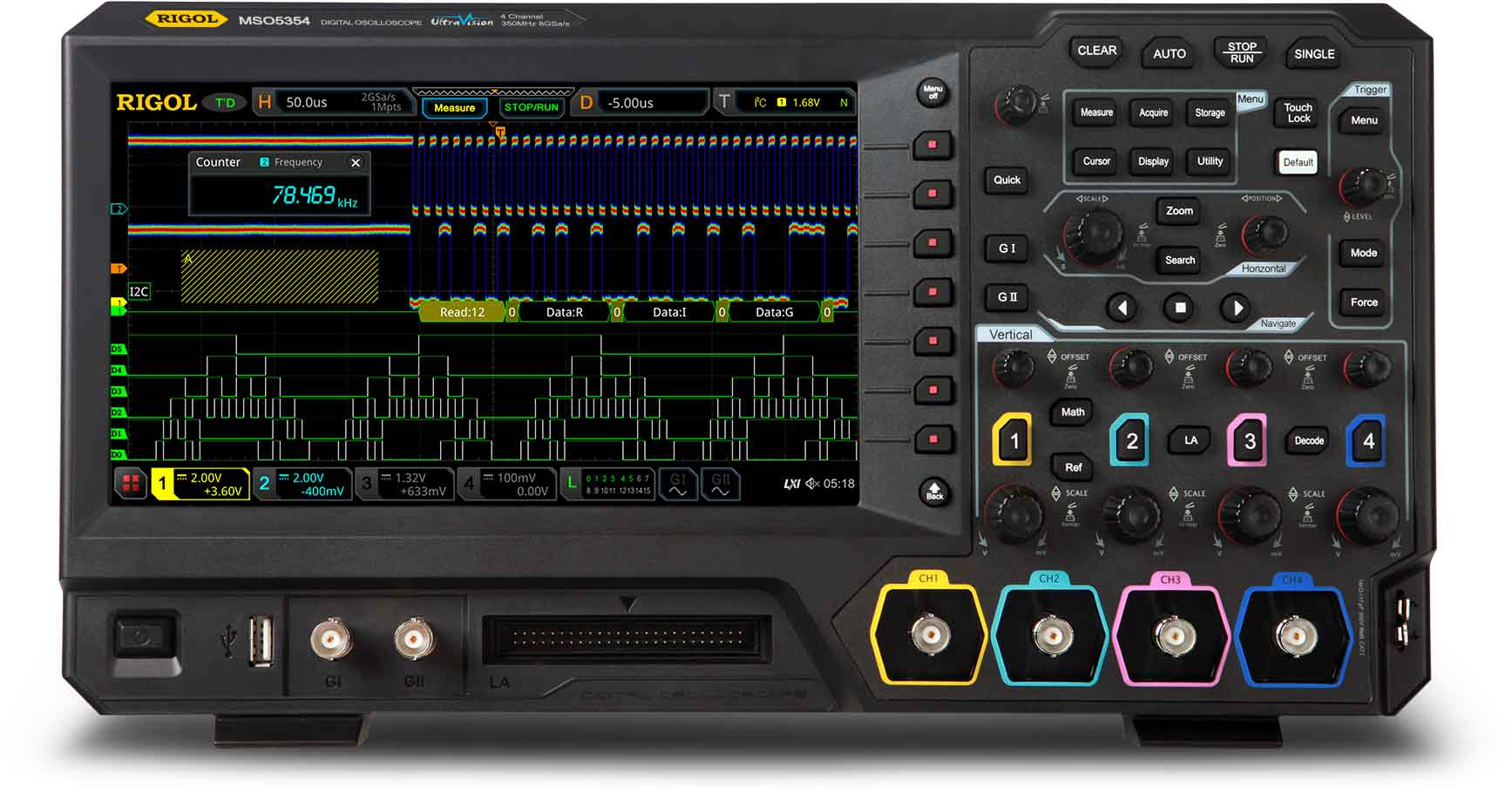 MSO5000 Mainstream Oscilloscopes | Electro-Meters | powered